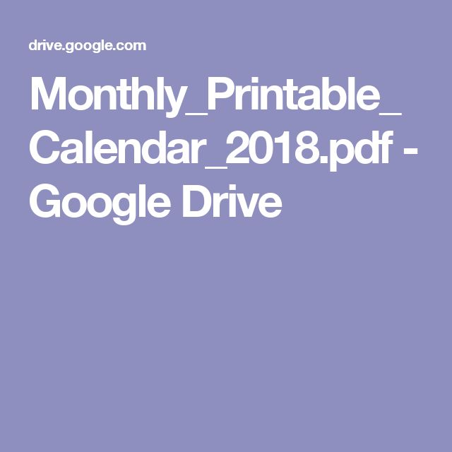 Monthly printable calendar google drive for Calendar template for google drive