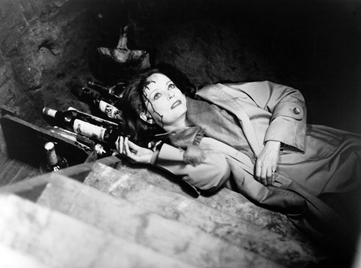 Alexis Smith, dead in the cellar in THE LITTLE GIRL WHO LIVES DOWN THE LANE (1976).