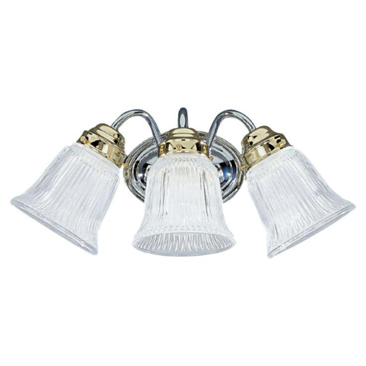 Chrome bath lighting fixtures chrome polished brass - Polished brass bathroom lighting fixtures ...