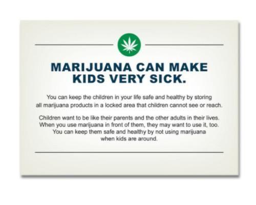 Oregon Marijuana Children Safety Awareness Card - 1,000 Count