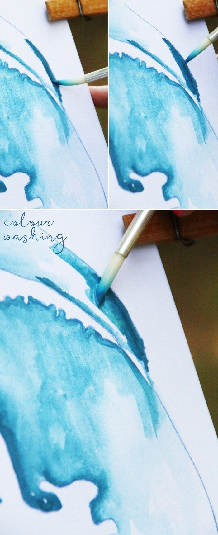 Easy Watercolour Christmas Gift DIY - you are not going to believe how easy this watercolour painting DIY is to do - try it! http://homeology.co.za/diy2/easy-watercolour-christmas-gift-diy/