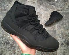 Custom matte black jordan 11s