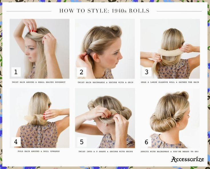 Cool 40S Hairstyles Roll Hairstyle And Hairstyle For Long Hair On Short Hairstyles Gunalazisus