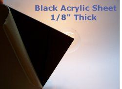 "Black Acrylic Sheet 1/8"" Thick 20"" x 20"""
