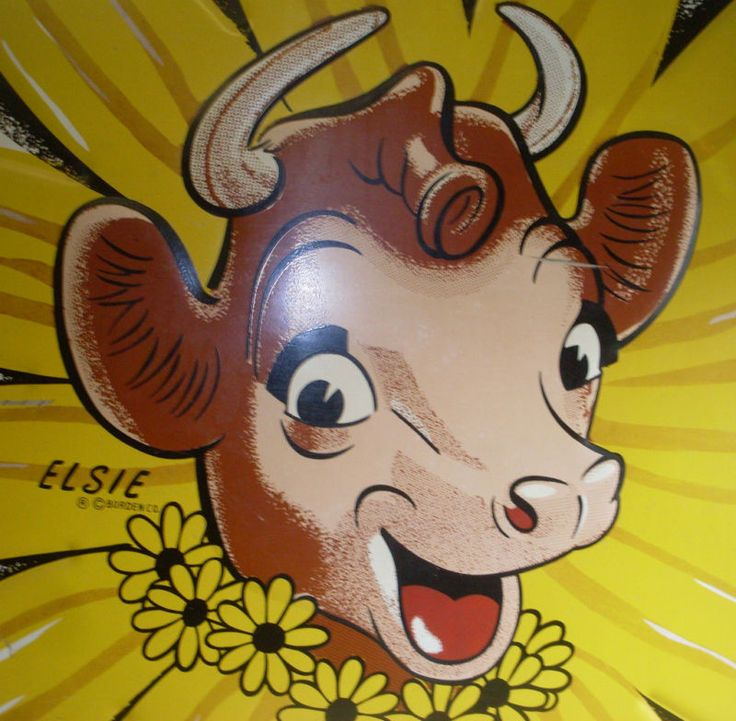 Good milk. This is probably the first logo in advertising that I can remember.  Loved Elsie as well as all the cows we had on the farm.