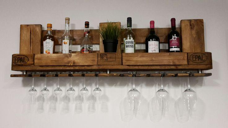 Flaschenregal aus Paletten