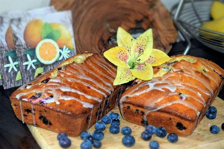 Lemon Blueberry Loaf with Lemon Glaze
