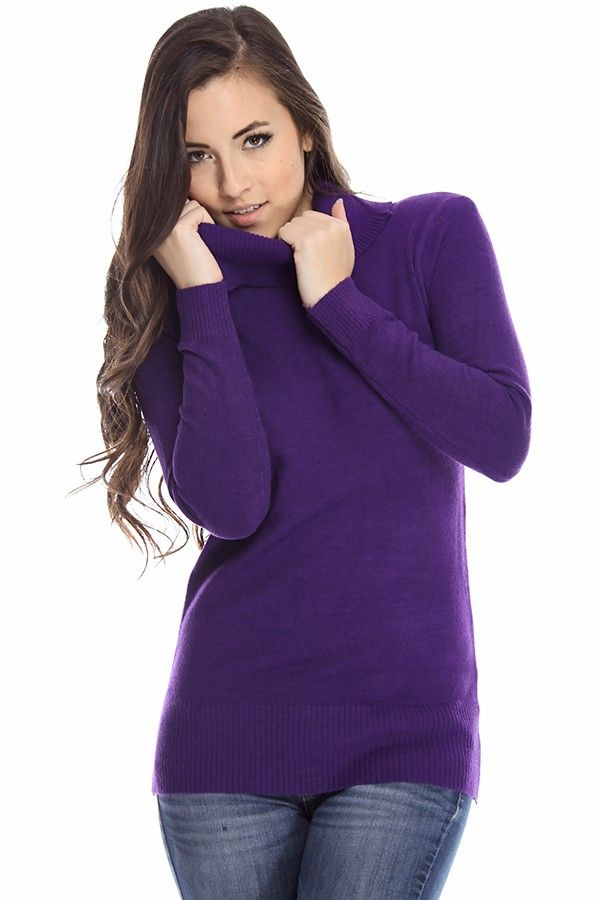 purple sweaters#knit sweaters#turtleneck sweaters#long sleeve...