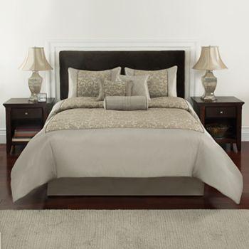 Croft Amp Barrow 174 Shimmer Damask 7 Pc Comforter Set