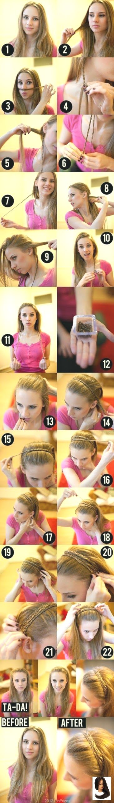 #simple #braided #hairstyle tutorial #summer hairstyles 5 Easy Braided Summer Hairstyles braid your hair and use it as a s …