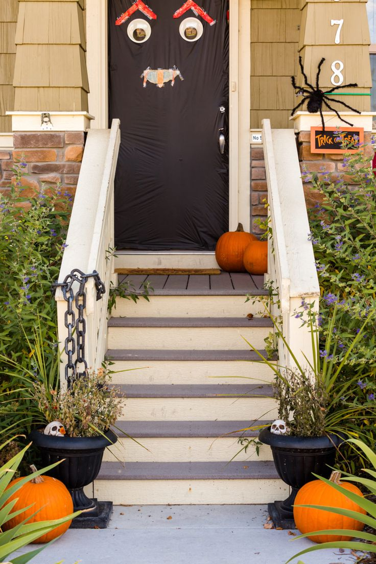 50 best Rustic Home images on Pinterest Fall front doors, Fall - Halloween Door Decoration Ideas