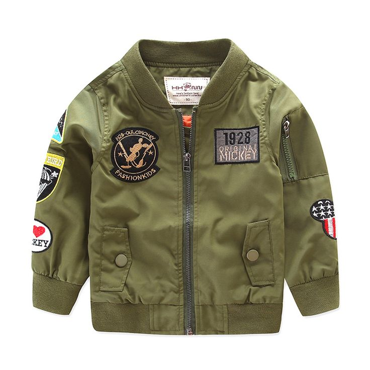 Cool 2017 Spring Autumn Jackets for Boy Coat Bomber Jacket Army Green Boy's Windbreaker Winter Jacket Kids Children Jacket - $41.01 - Buy it Now!