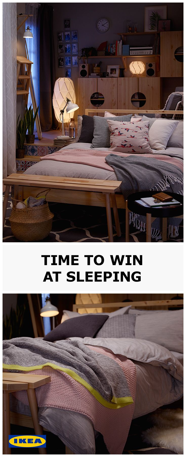 Whether it's finding the perfect pillow, or getting the tog on your new duvet just right, spending time personalising your bedroom to your needs is an important step towards winning at sleeping. Visit our IDEAS page for more tips.