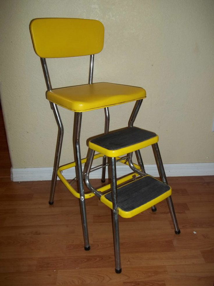 Vintage 1950 S 1960 S Yellow Cosco Kitchen Step Stool