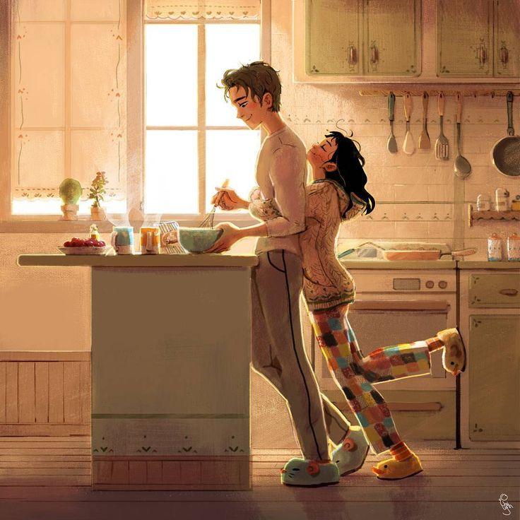 duck_d_lynn Lynn Choi You up already?    #tallguyshortgirlcouple#digitalart#art#artist#digitaldrawing#drawing#scene#story#characterdesign#duckdlynn#illustration#drawingoftheday#instaart#instaartist#그림#일상#일러스트#케릭터디자인#럽스타그램#married#couple#morning#love#relationshipgoals