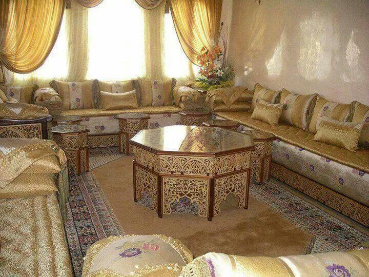 Salon marocain as | Salon marocain traditionnel, Tissu salon ...