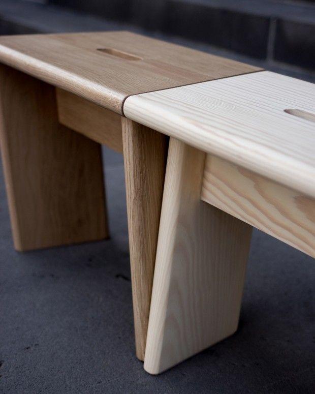 Mobilier Durable Collection De Meubles En Bois Par Le Studio Foret In 2020 Wood Chair Furniture Home Decor