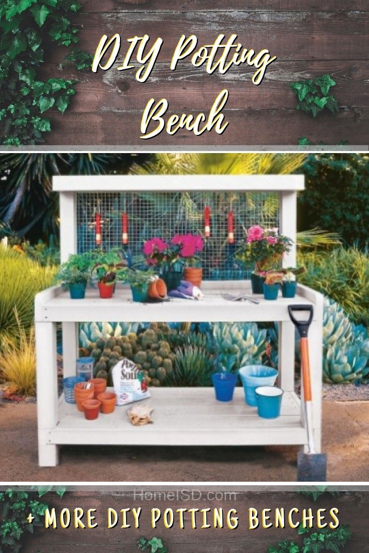 31 Easy DIY Potting Benches For Your Gardening Station | DIY ...