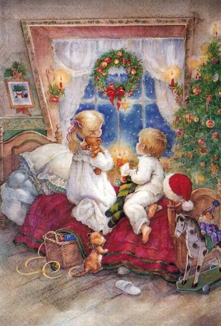 Рождество открытки с детьми, мамы картинка открытки
