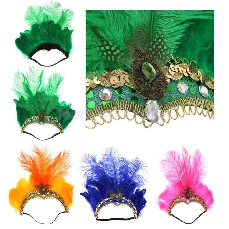 Feather Fascinator Flapper Headband Elastic Head Band For Party Ball Proms