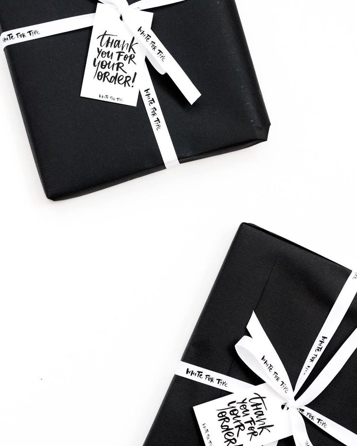 Black packaging idea -- thank you for your order