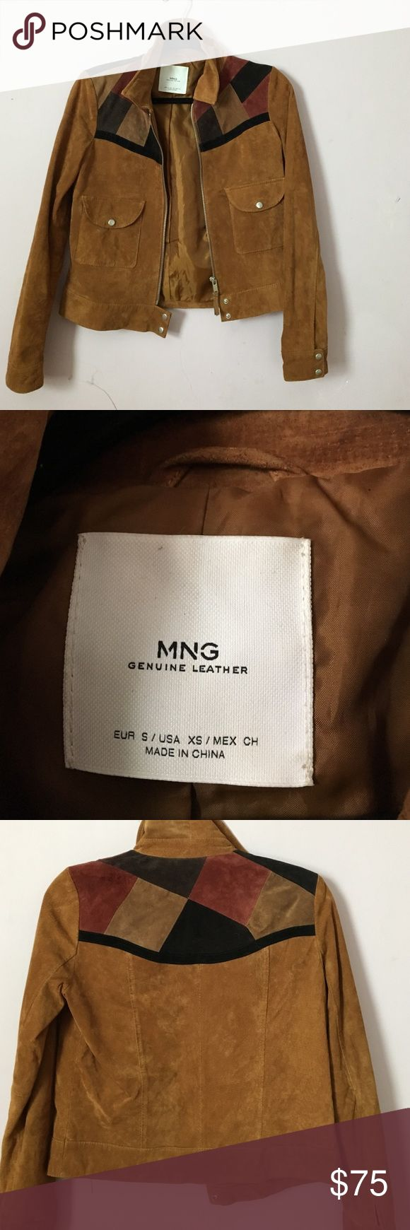 Camel suede jacket Lightly worn genuine suede Mango Jackets & Coats