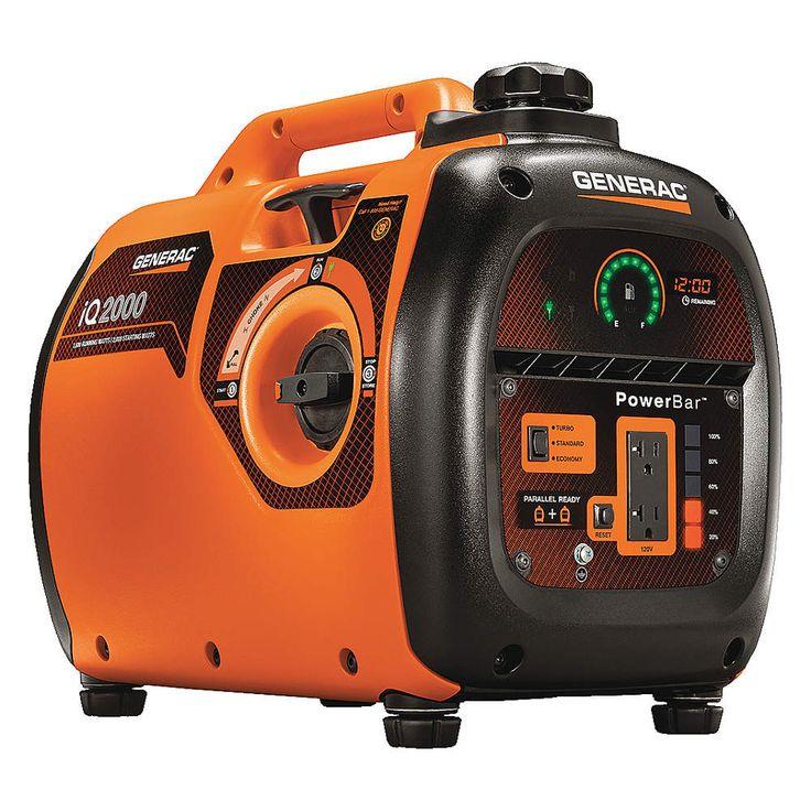 Power Dial Gasoline Portable Inverter Generator, 1600 Rated Watt s, 2000 Surge Watts, 120VAC - FREE SHIPPING