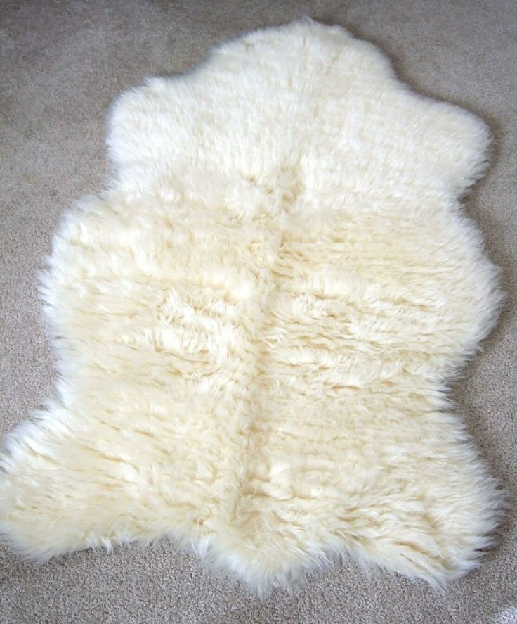 Thick White Faux Fur Rug