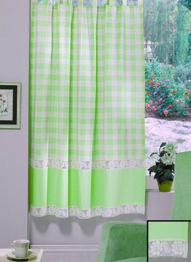 REDUCERE -25% pentru Perdea confecţionată Valentini Bianco PR009 Verde. Preț redus: 113,25 lei.