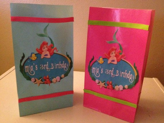 Ariel Party Bags Ariel The Little Mermaid Favor Goody Bags By