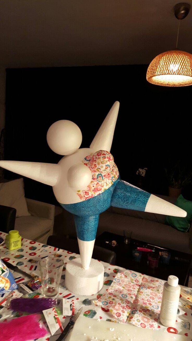 Dancing rubenesque foam lady in the makings