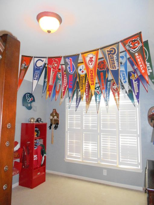 sports banners and flags