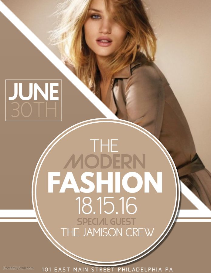 Modern Fashion Show Poster Template Model