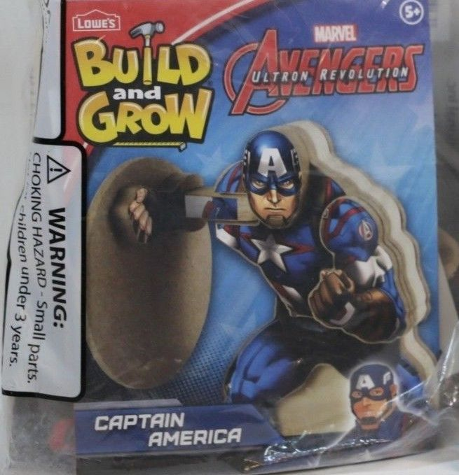 Captain America Marvel Avengers Ultron Revolution NEW Lowe's Build Grow Wood Kit #LowesMarvel