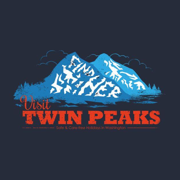 Drink some Damn good coffee with 'Twin Peaks Visitor' shirt! @TeePublic!