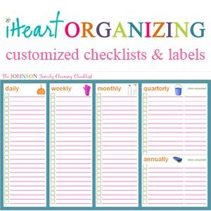 I do not heart organizing, but I do heart being organized. This is a great blog.