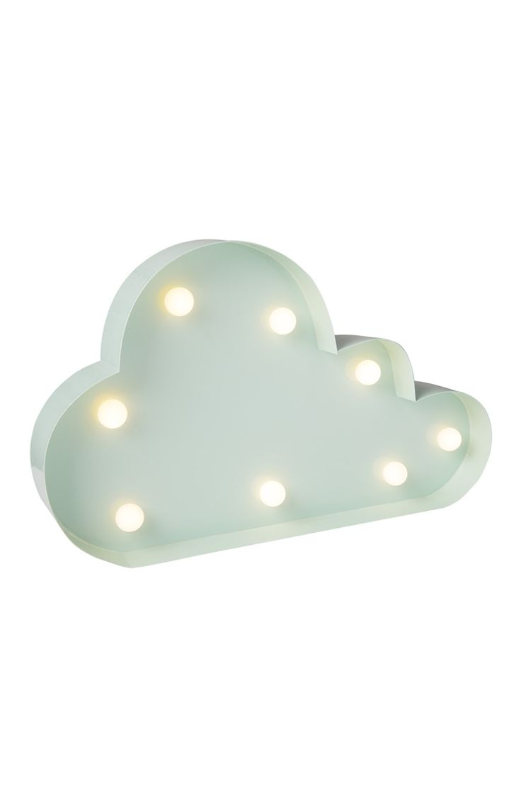 Primark - Suporte de luz LED nuvem verde