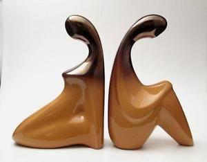 Vintage Ellis Figural MAN Woman Bookends Australian Studio Pottery MID Century   eBay