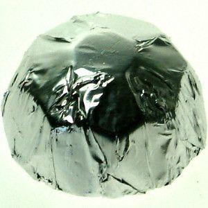 A 1kg bag of Foiled Chocolate Diamonds Silver.