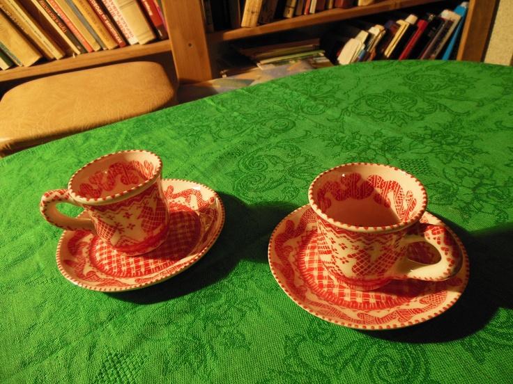 Кофейная пара из фарфора