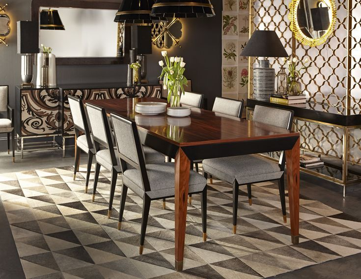 Black Lacquer Meets Rosewood In The Reform Dining Table By Boyd