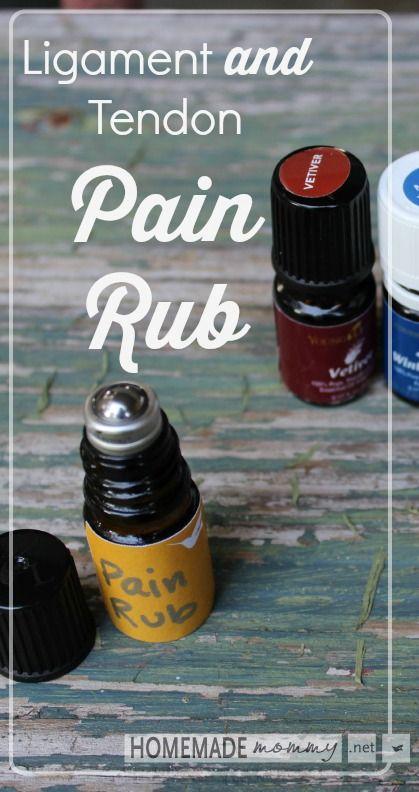 Homemade Ligament and Tendon Pain Rub   www.homemademommy.net
