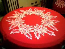 manteles pintados a mano de navidad buscar con google