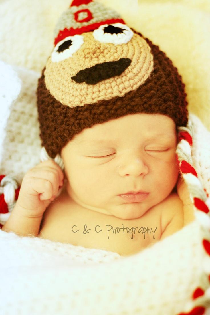 Ohio State Buckeyes newborn/ baby hat