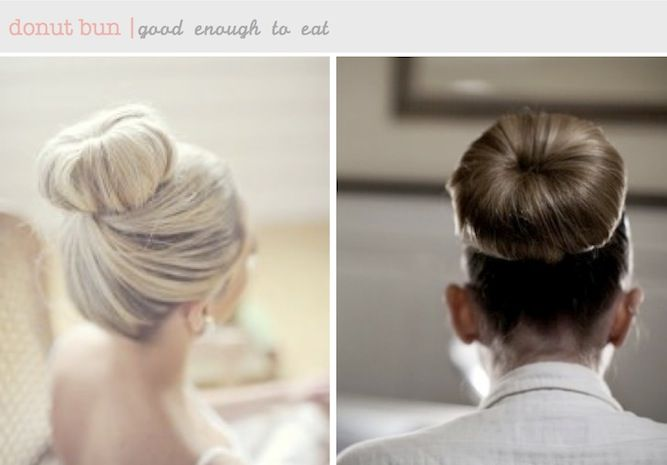 donut ballerina bun DIY hair tutorials