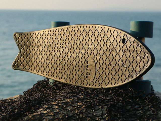 Skateboards from Recycled Fishnets off the coast of Chile - Bureo Boards