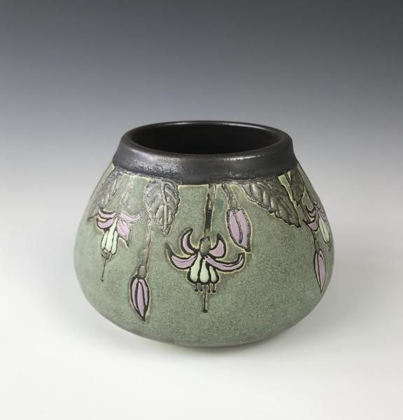 Craftsman Bowl of Fuschias by Taira Wiggins | Sweet Earth Pottery