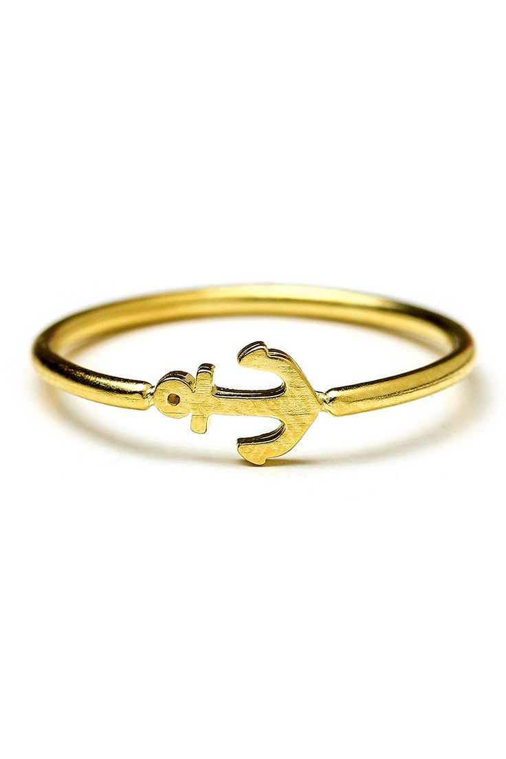 Dogeared Charmed Anchor Ring