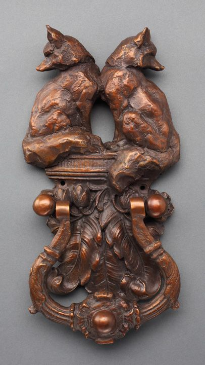 Sandy Scott Art: #245 Functional Art: Fox Pair Door Knocker
