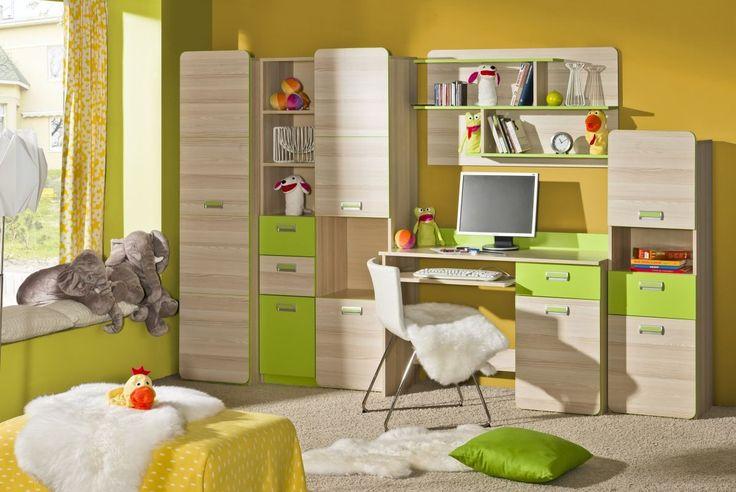 Jugendzimmer Komplett - Set B Dennis, Farbe: Esche Grün